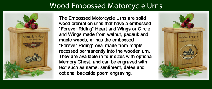 Motorcycle Urns and Biker Urns