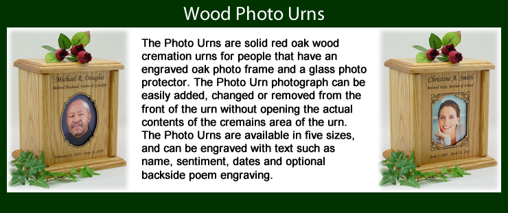 Wood Photo Urns