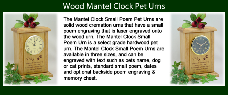 Mantel Clock Pet Urns