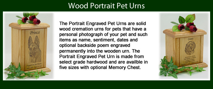 Portrait Engraved Pet Urns